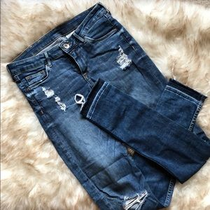 Super skinny low waist h&m distressed jeans